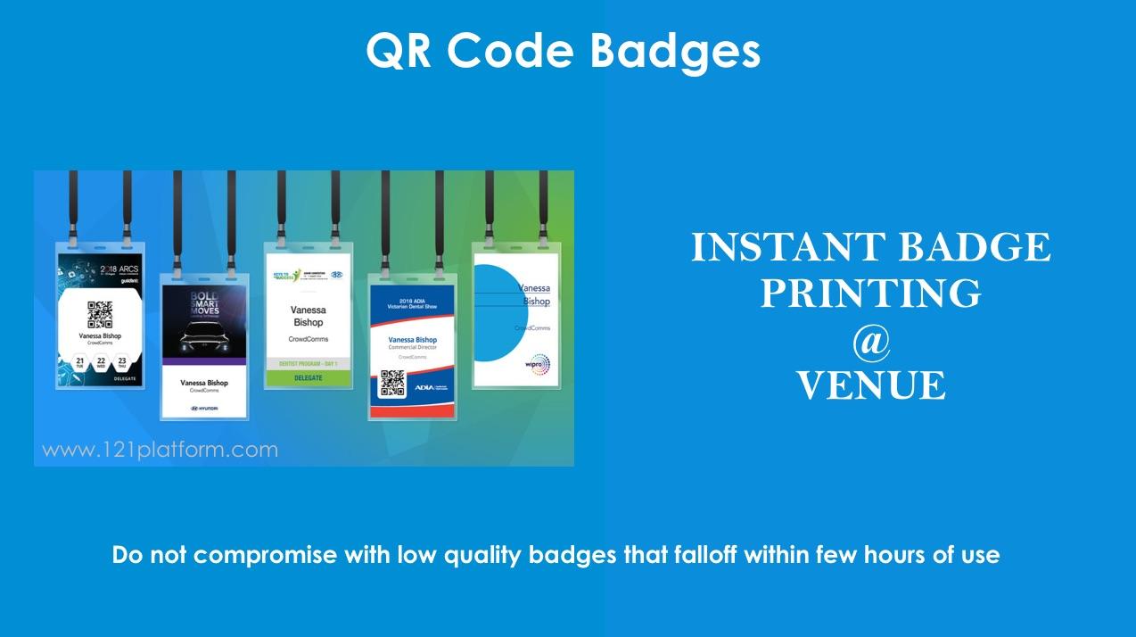 instant name badge printing