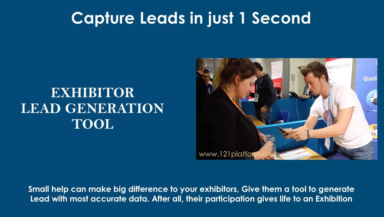 exhibitor lead generation tool
